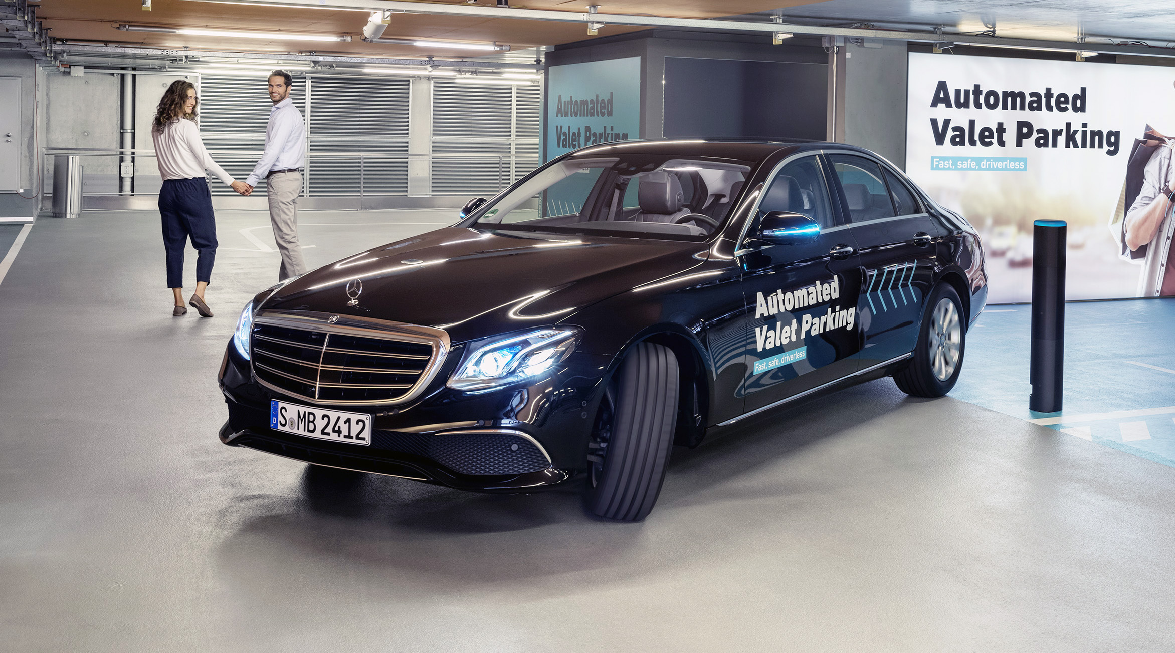 Bosch mercedes benz launch automated valet parking site for Parking at mercedes benz superdome