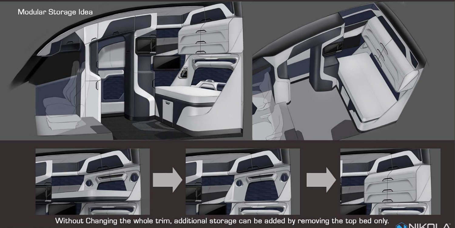 Tesla Suv Specs >> Nikola One truck's two-bedder interior revealed - Photos (1 of 7)