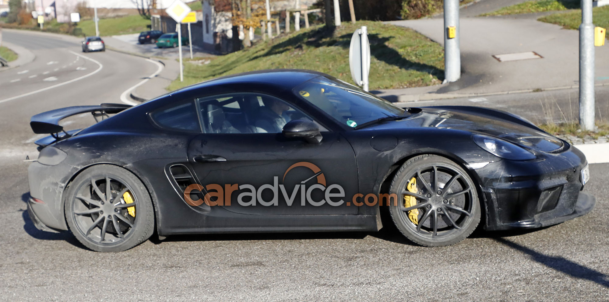 2018 porsche 718 cayman gt4 spied photos 1 of 4. Black Bedroom Furniture Sets. Home Design Ideas