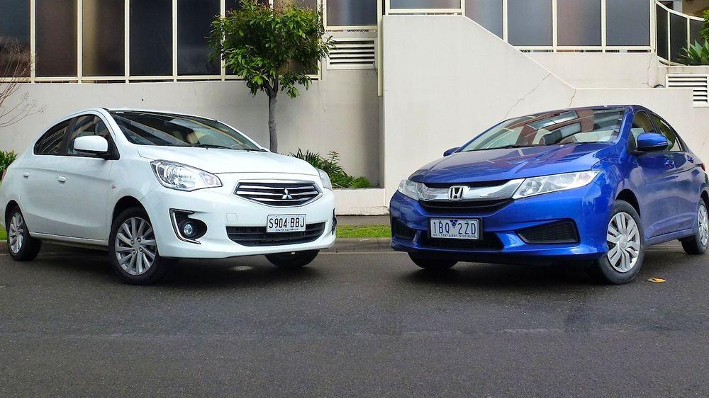 Honda City V Mitsubishi Mirage Sedan Comparison Review