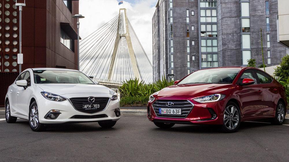Compare The 2018 Hyundai Elantra Vs The Mazda3 Hyundai Autos Post