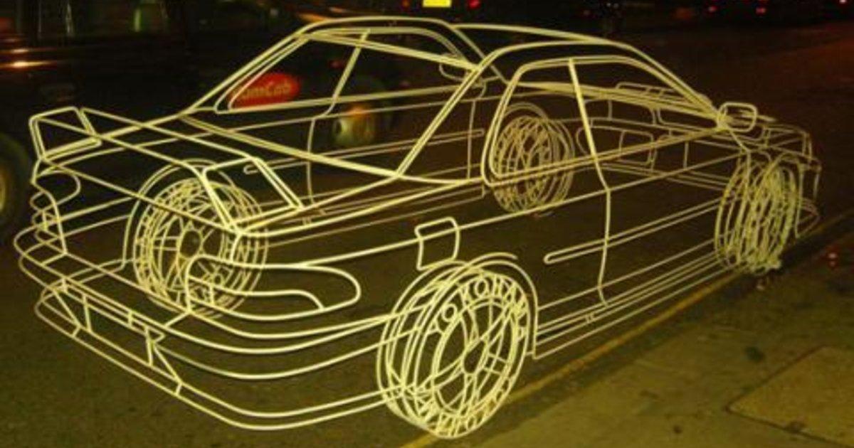2007 Subaru Impreza Wrx >> Subaru Impreza WRX Wire Frame Sculpture