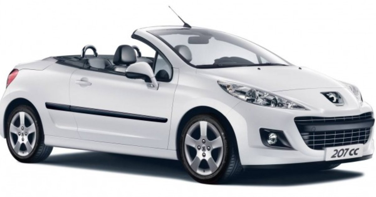 2012 peugeot 207 cc adds more features price unchanged. Black Bedroom Furniture Sets. Home Design Ideas
