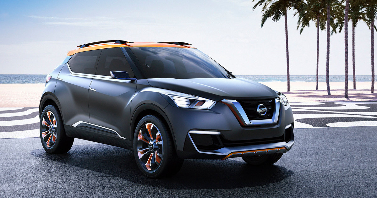 Nissan Rogue Select >> Nissan Kicks concept previews potential small SUV for Brazil