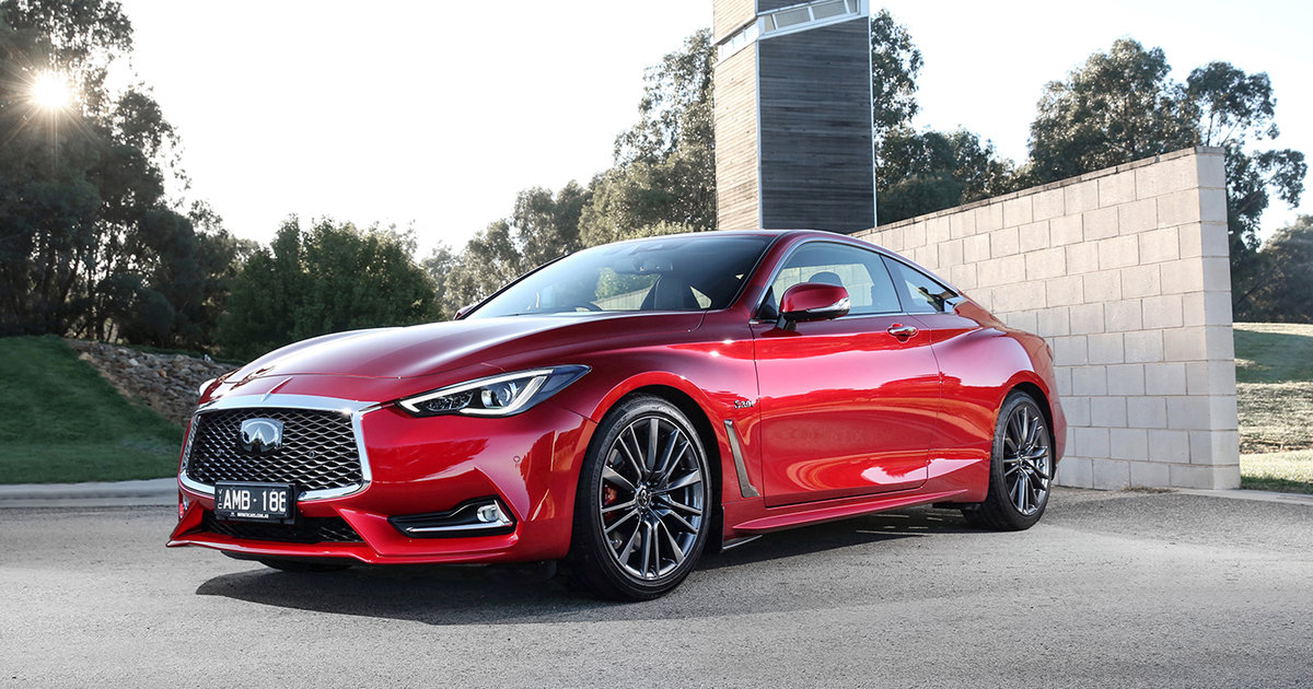 2017 infiniti q60 red sport on sale in australia. Black Bedroom Furniture Sets. Home Design Ideas