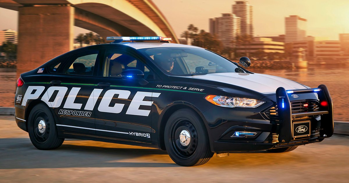 ford fusion police responder hybrid first pursuit rated hybrid car revealed