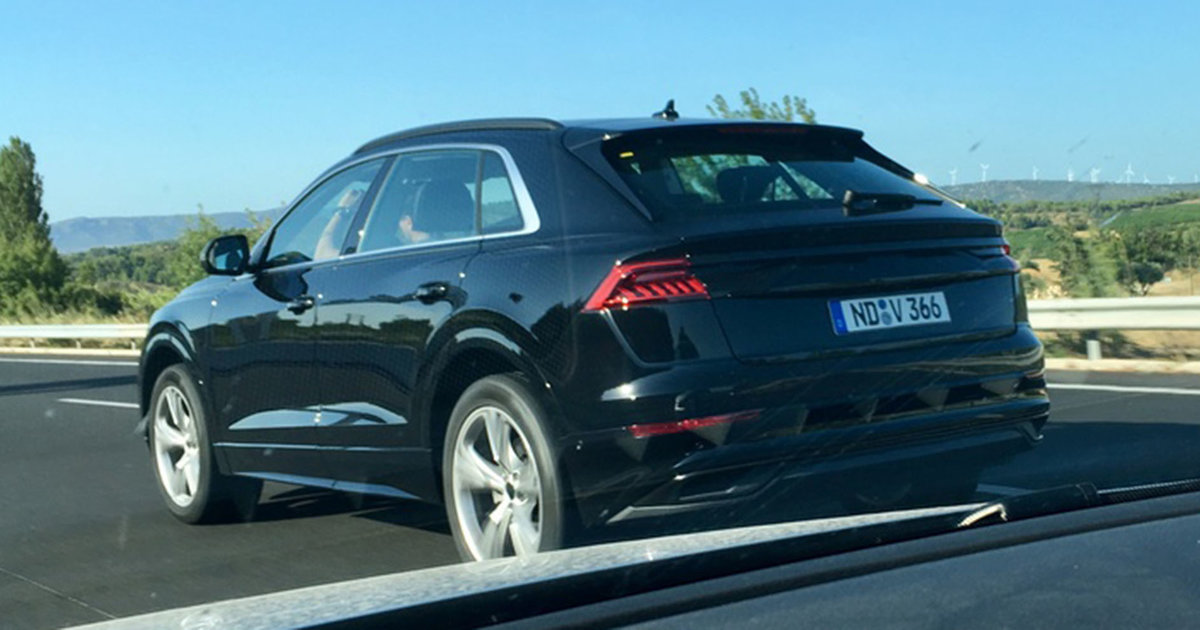 2018 audi q8 spied almost completely undisguised. Black Bedroom Furniture Sets. Home Design Ideas