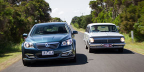 Fifty years of Holden Wagons - 2014 VF Calais Sportwagon v 1964 EH Special Wagon