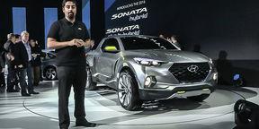 Hyundai Santa Cruz Ute Concept First Look : NAIAS Detroit Motor Show 2015