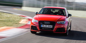 Audi RS3 Review : Track drive at Vallelunga race circuit