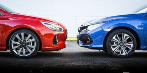 2017 Honda Civic VTi-LX v 2017 Hyundai i30 SR Premium comparison