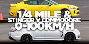 Kia Stinger 330Si v Holden Commodore SS-V Redline: 1/4 mile and 0-100km/h