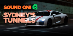 Cruising Sydney's best tunnels in the Audi R8 RWS