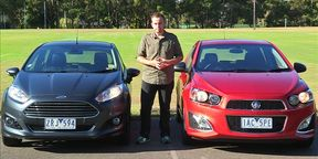 Holden Barina RS v Ford Fiesta Sport video review.