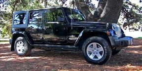 Jeep Wrangler roof and doors removal