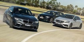 BMW M2 v Audi RS3 v Mercedes-AMG A45: Track battle