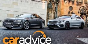 Mercedes Benz S63 AMG v Audi S8: Drag Race