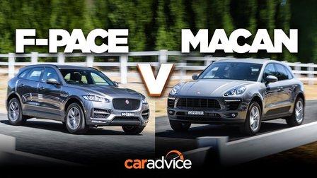 Jaguar F-Pace 25t R-Sport v Porsche Macan (4cyl) comparison