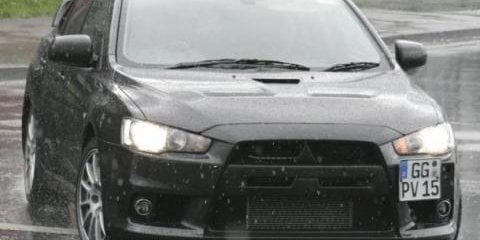 Mitsubishi Lancer Evo X Spy Shots