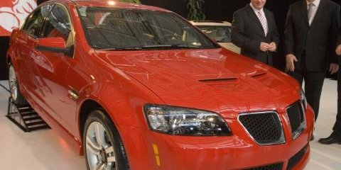 Pontiac G8s roll off the production line