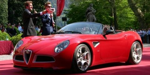 Alfa Romeo 8C Spider Set For Production
