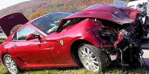 Crashing the company super car