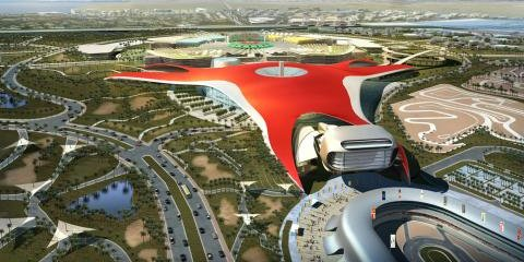 Ferrari theme park construction under way