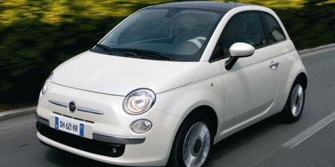 Fiat 500 bags a gong