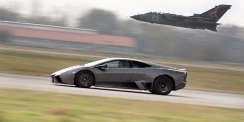 Lamborghini Reventón takes on a Tornado