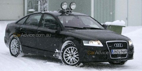 2009 Audi A6 spy photos