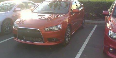 Mitsubishi Lancer Ralliart spied?