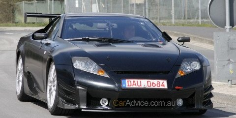 Lexus LF-A Race Version Spy Photos