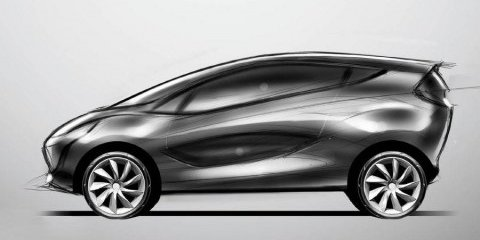 Mazda city car concept official sketches