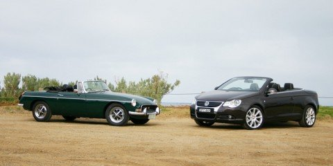 Retro Road Test Volkswagen Eos & MG B
