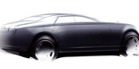 Official sketches of Rolls Royce RR4 sedan