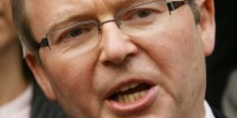 Kevin Rudd feels motorists' pain