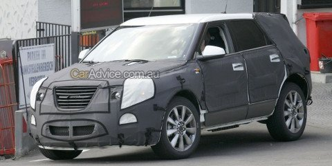 2010 Saab 9-4X spy photos