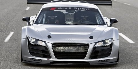 Audi R8 GT3 375kW+ race version with rear-drive