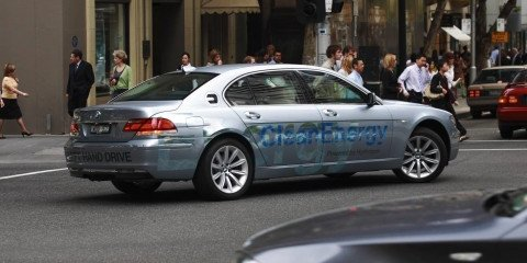 BMW Hydrogen 7 leads the 2008 Hydrogen Road Tour