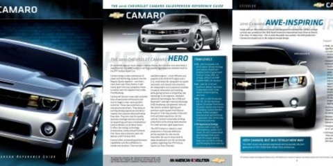 Chevrolet Camaro US sales brochure leaked