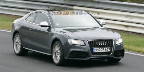 Audi RS5 spied at 'Ring