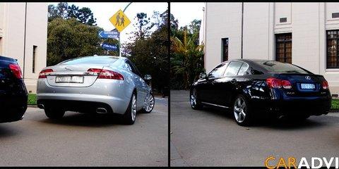 2008 Jaguar XF V8 vs Lexus GS460 review