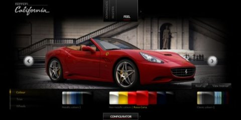 Ferrari release California configurator