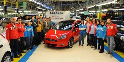 One-Million Fiat Puntos sold