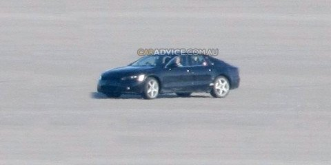 2010 Audi A7 spied during high-speed testing