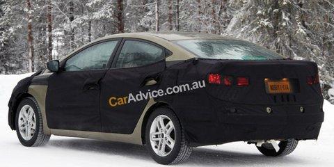 2011 Hyundai Elantra spy photos