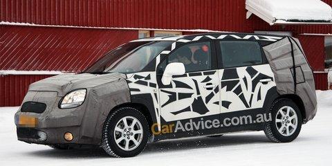 2010 Chevrolet Orlando, Opel Zafira spy photos