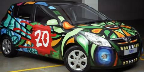 Hyundai i20 ArtCar - Custom Modern Art Paint Job