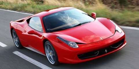 Ferrari 458 Italia drag race faux pas