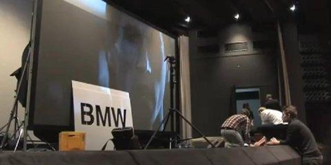 Video: BMW flash projection cinema advertisement